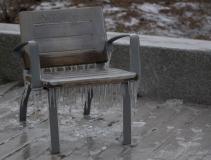 chaise gelée