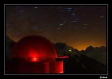 Photos astronomiques, coupole, constellation du Scorpion