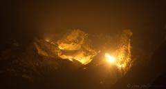 Illumination de 13 sommets valaisans, commémoration 200 ans entrée Confédération